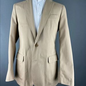 JCrew Ludlow Desert Khaki Chino Cotton Coat 22482